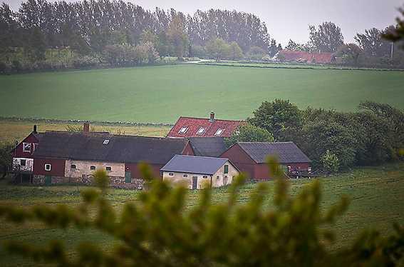 Ulf Lundells gård ligger 500 meter från Kivik Art Center.