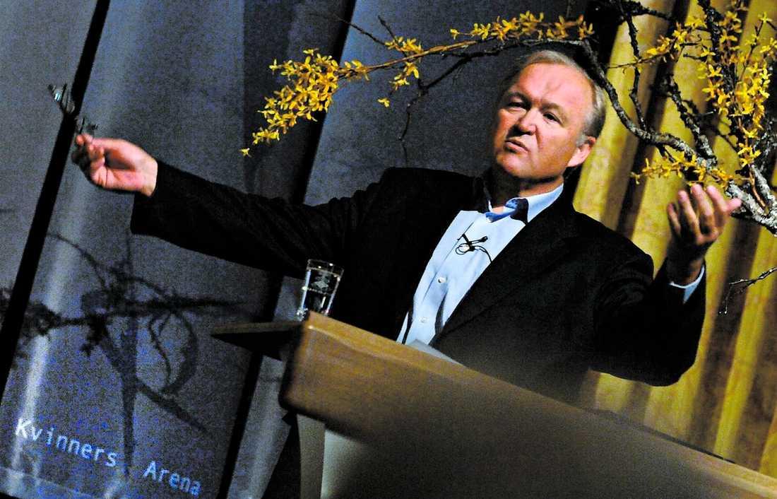 """tala är silver Göran Persson talade bland annat om manliga härskartekniker när han höll föredrag inför 700 norska kvinnor på konferensen """"Kvinners arena 2007"""" i Stjørdal, nära Trondheim. Åhörarna hade betalat över 2 000 kronor var."""