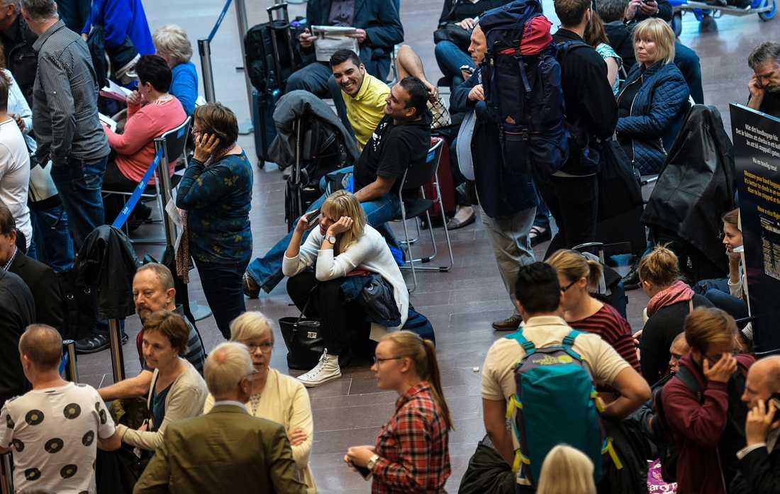 Passagerare på Arlanda efter att Vings ägare gått i konkurs.