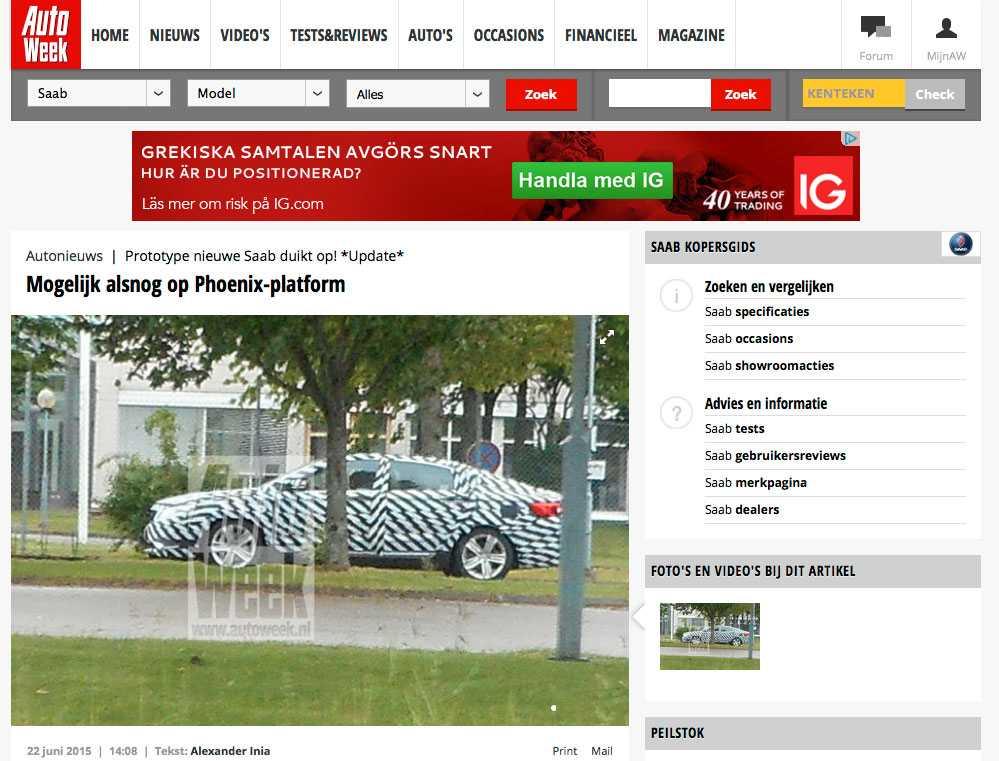 Läsarbilden är tagen utanför Saab-fabriken i Trollhättan.
