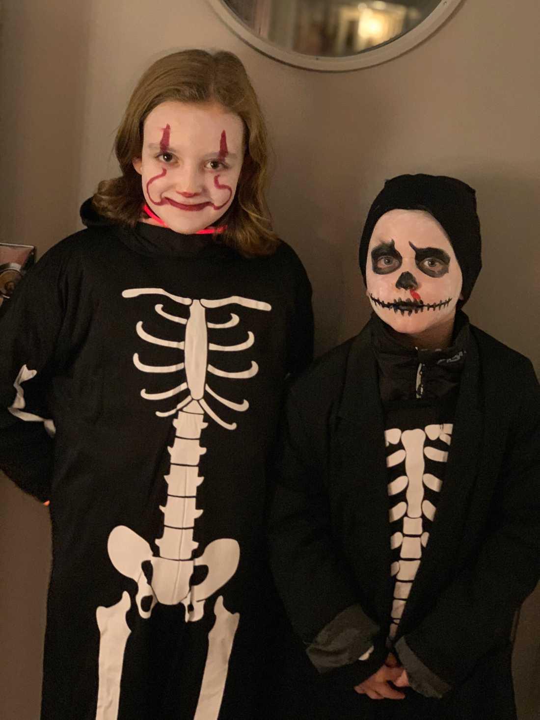 Sally, 10, och William, 8, samlar in pengar till cancerforskning.