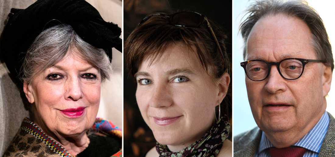 Suzanne Brøgger, Marianne Stidsen och Horace Engdahl