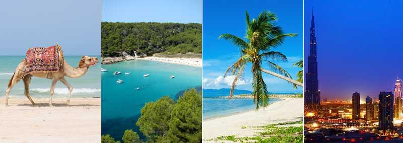 Vart går din drömresa?  Tunisien, Capri, Seychellerna och Dubai är några av sommarens charternyheter.