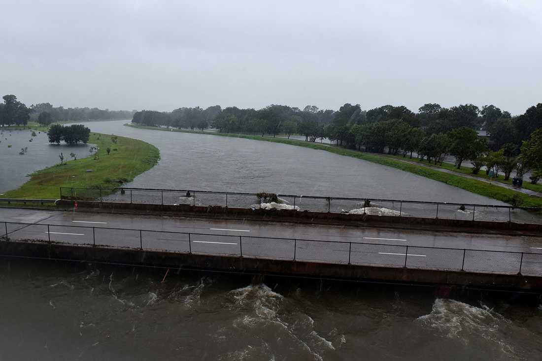 Stora översvämmningar i Houston.