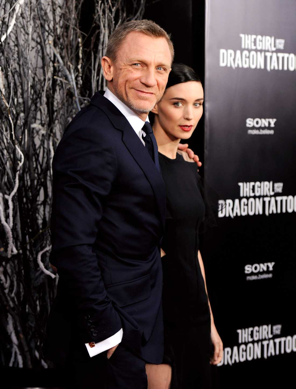 Daniel Craig och Rooney Mara.