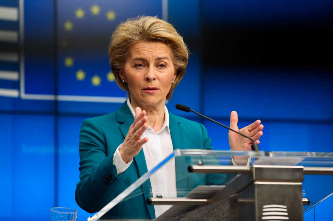 EU-kommissionens ordförande Ursula von der Leyen. Arkivfoto.