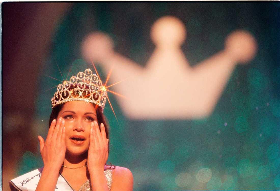 "Jessica Olérs vinner ""Fröken Sverige"" 1998."