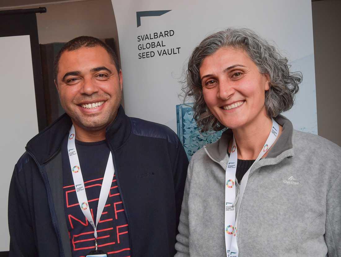 Zakaria Kehel och Mariana Yazbek jobbar på Icardas genbanker i Marocko och Libanon.