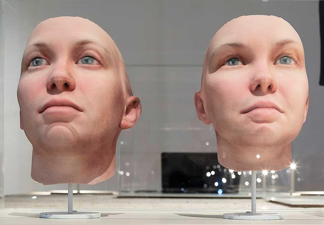 """""""Radical Love"""". Ett genetiskt porträtt av Chelsea Manning, skapat av Heather Dewey-Hagborg."""