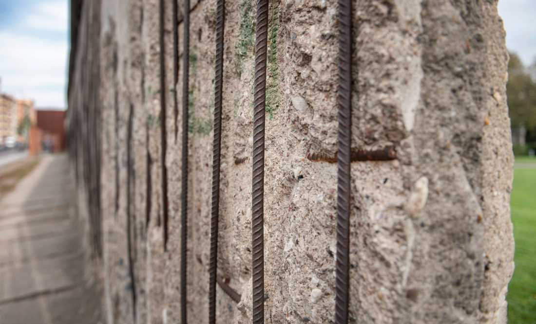 En sektion av muren.