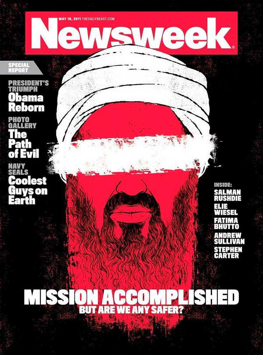 """16 maj, 2011 Usama bin Ladin blev efter 11-septemberattacken världens mest jagade man. Nästan tio år senare – i maj 2011 dödades han av amerikanska marinsoldater i Islamabad, Pakistan.""""We got him"""", sa Barack Obama. Newsweek frågade: """"Är vi säkrare?"""""""