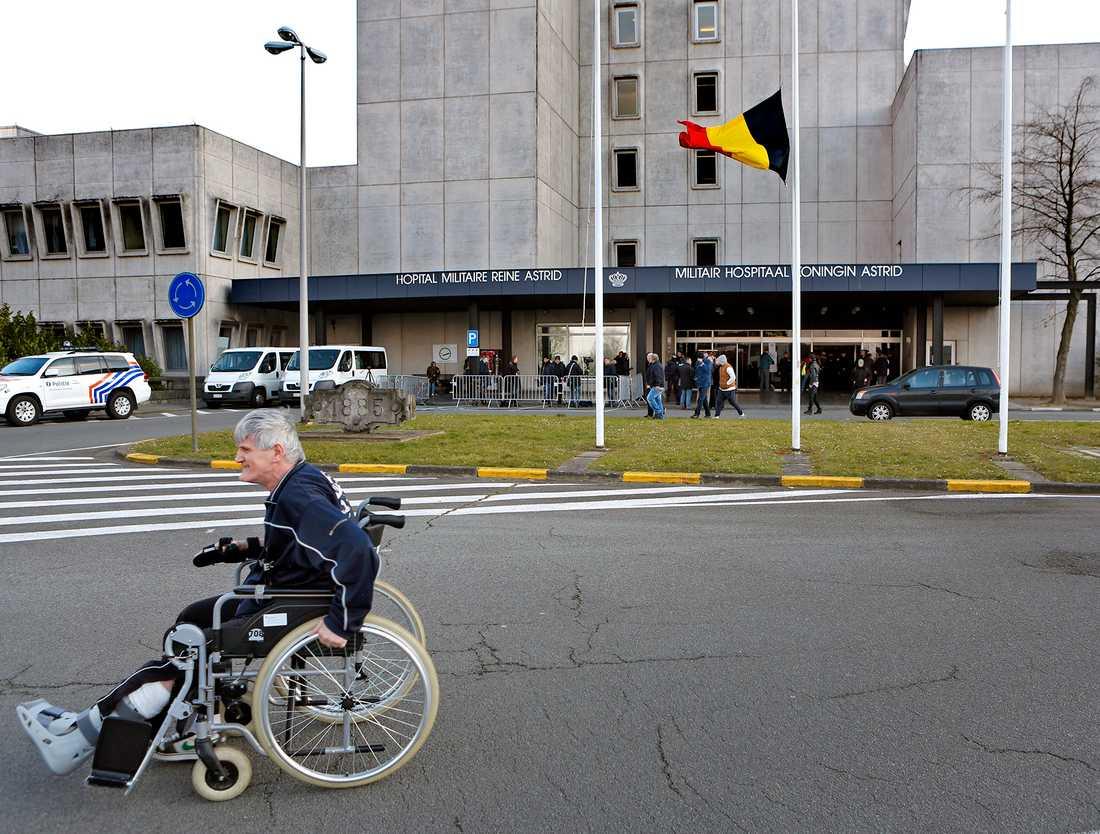 De flesta skadade har flyttats till militärsjukhuset i Bryssel