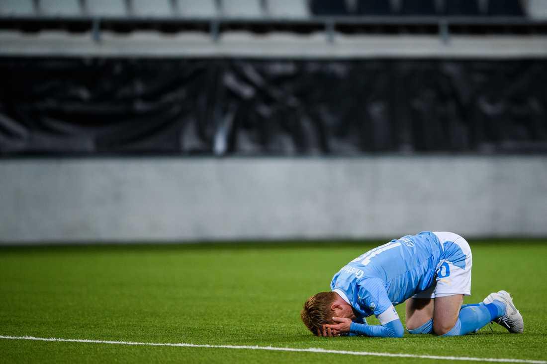 Malmös FF:s Anders Christiansen deppar.