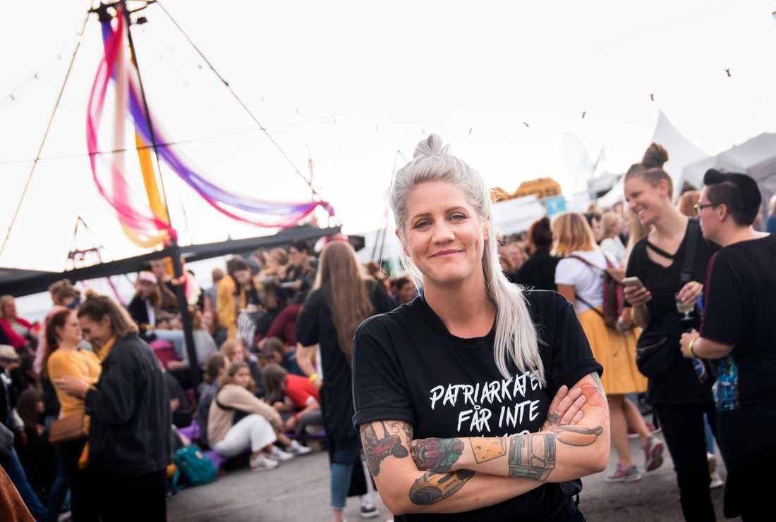 """""""Jag är inte förvånad över att inga brott anmäldes"""", säger Emma Knyckare till SVT Väst. Arkivbild."""