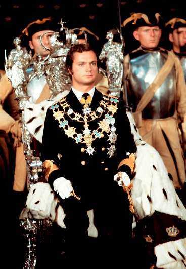 1973 Kungen blir kung, 27 år gammal. Kröningen.