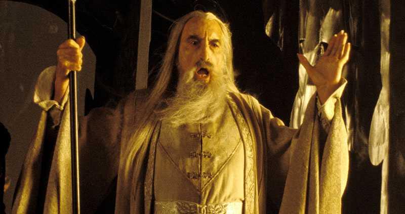 """Christopher Lee, här som Saruman i """"Sagan om de två tornen"""", ska dlas av Storbritanniens drottning Elizabeth."""