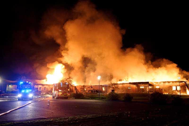 Polisen misstänker mordbrand. Stadsdelen Berga har länge varit utsatt för småbränder i papperskorgar och andra platser.