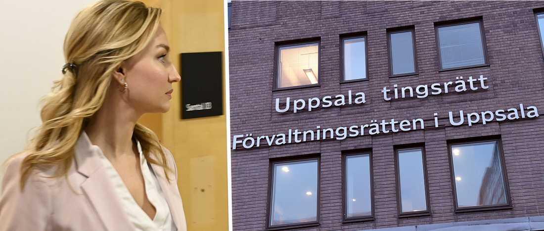 Kristdemokraternas partiledare Ebba Busch var idag i Uppsala tingsrätt angående fastighetstvisten med Uppsalabon Esbjörn.