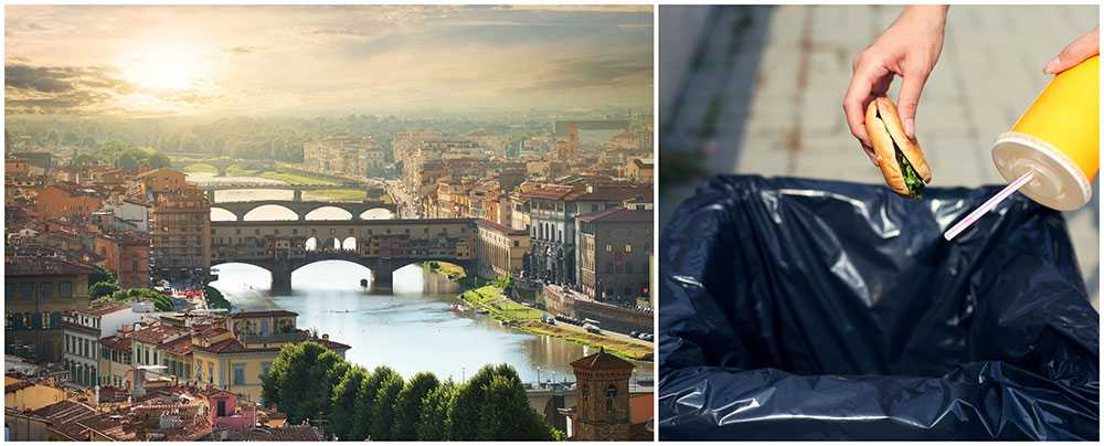 Nu förbjuds turister att äta lunch på gatan i Florens.