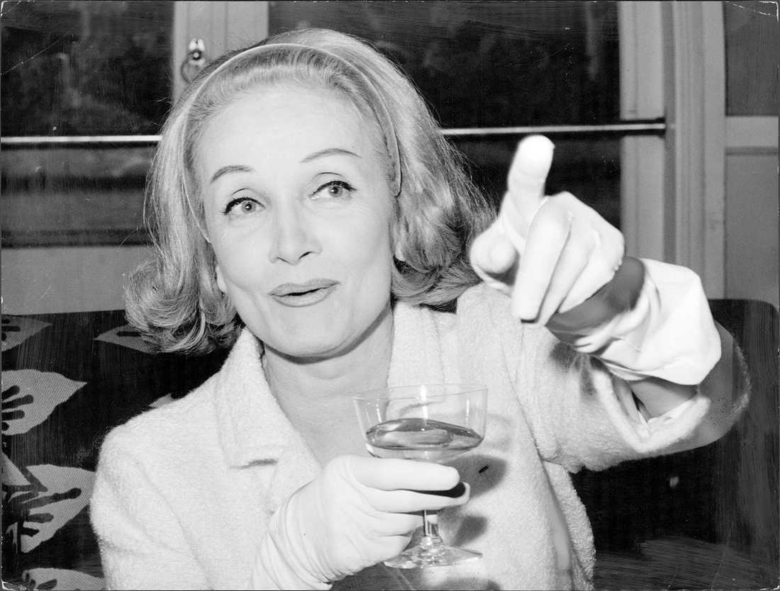 Tyska skådespelaren Marlene Dietrich.