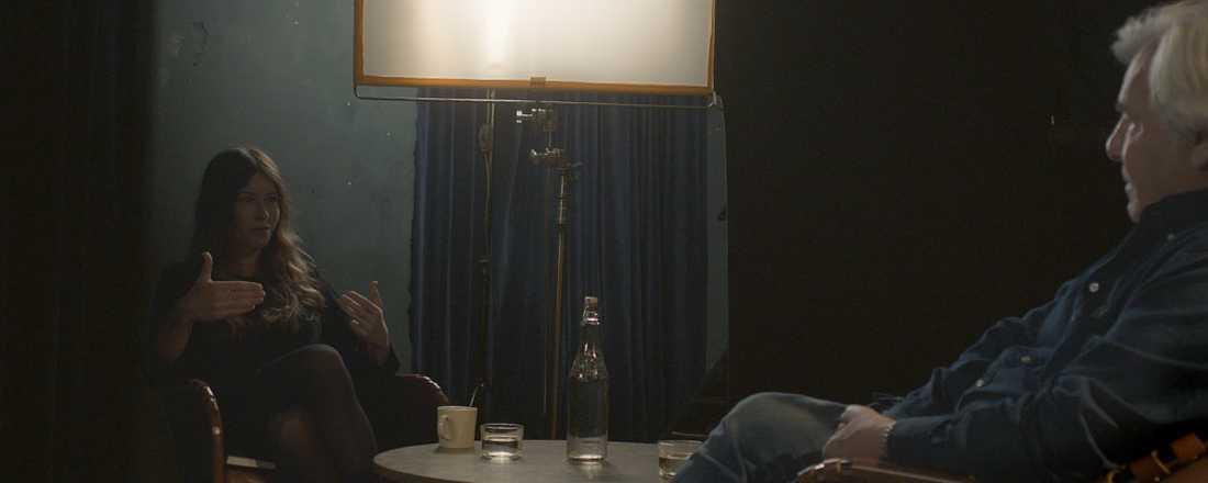 Anna Odells möte med Jan Guillou blev till det som nu är vinjettfilmen på Göteborgs filmfestival, som visas före alla filmvisningar under festivalen. Pressbild.