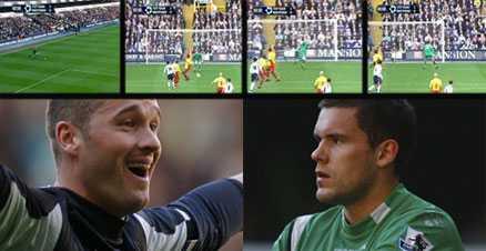Vilken miss - Foster Här är missen hela England pratar om. Watfords målvakt Ben Foster släppte in frisparken från Paul Robinson –också han målvakt. Båda är dessutom uttagna i det engelska landslaget.