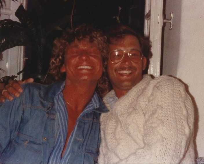 Bengt och Jim Ryan på fest tillsammans.
