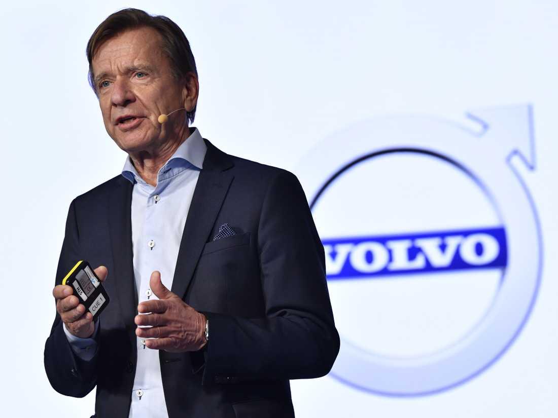 Volvo Cars vd Håkan Samuelsson presenterar företagets halvårsrapport. Arkivbild.