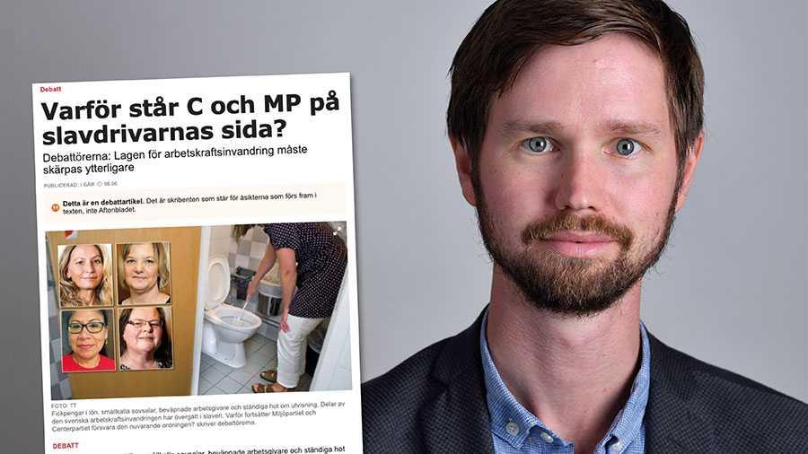 Ingen ska utnyttjas på svensk arbetsmarknad. Vi ska dock se värdet av att människor vill komma till Sverige och bidra. Det gör Sverige bättre, det är bra för våra företag, och det är bra för vår välfärd. Replik från Rasmus Ling, Miljöpartiet.