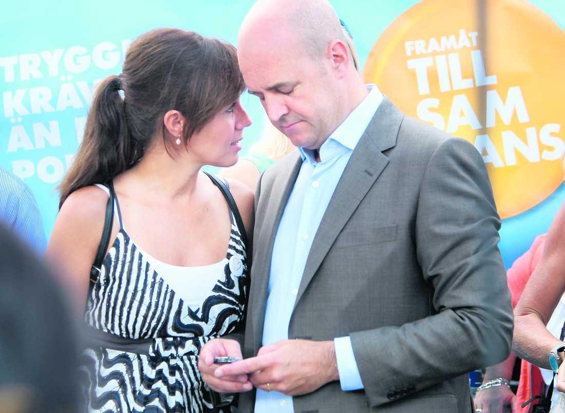 stort inflytande Filippa Reinfeldt har stort inflytande och formar sannolikt Fredrik Reinfeldts politiska åsikter står det i en rapport.