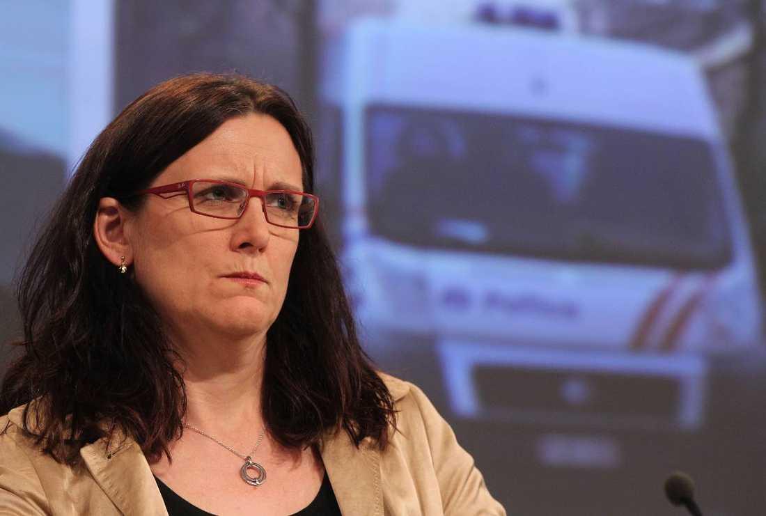 Cecilia Malmström tycker att TTIP-läckan är en storm i ett vattenglas.