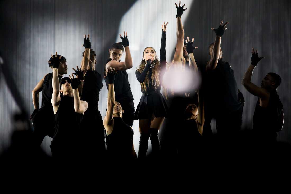 Ariana Grande vid senaste konserten i Sverige 8 maj.