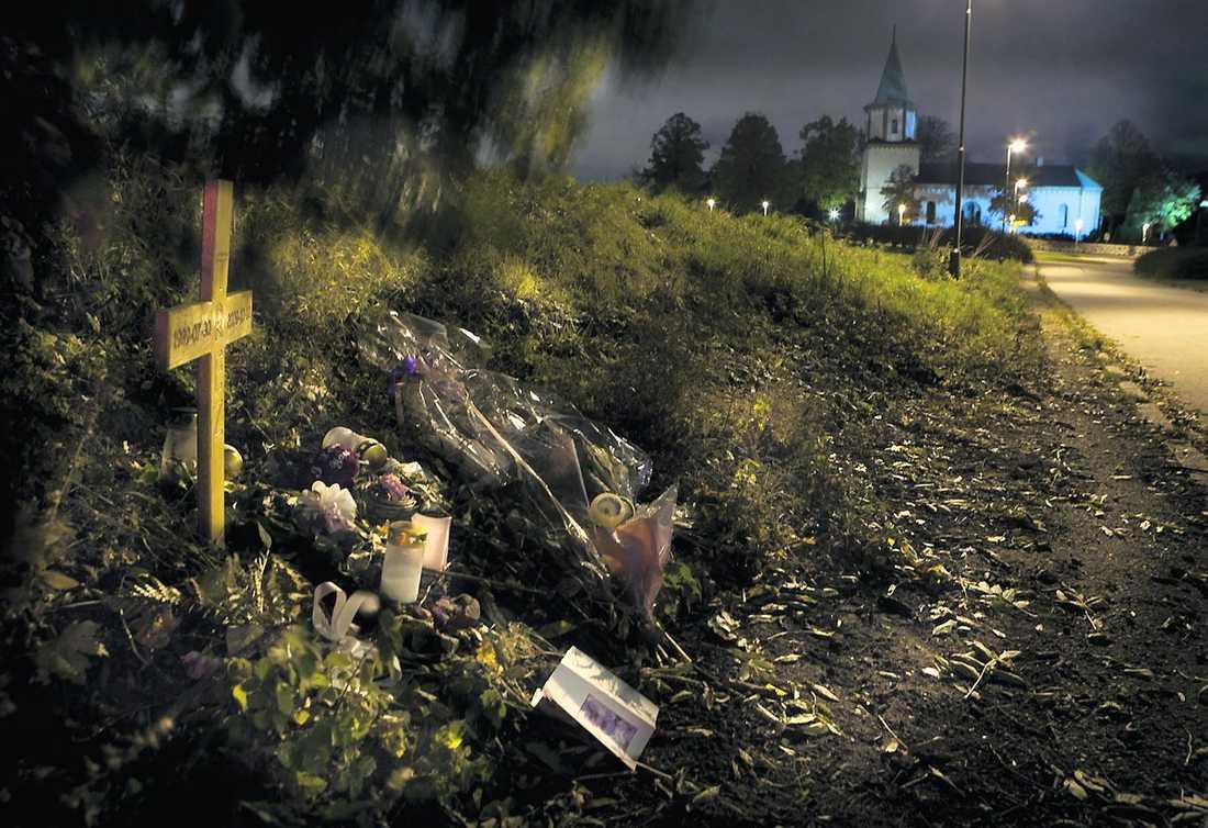 Västra Skrävlinge kyrkogata. Här sköts Trez West Persson till döds i en bil 10 oktober 2009. Peter Mangs dömdes för mordet.
