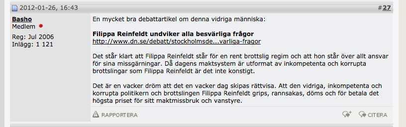 """Psykologen hoppas att Filippa Reinfeldt ska """"rannsakas"""" och få """"betala det högsta priset""""."""