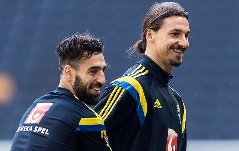 Durmaz och Zlatan under en landslagssamling.