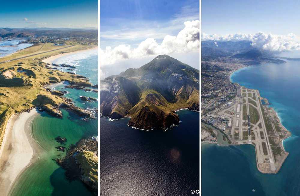 Sajten PrivateFly har rankat flygplatserna med världens vackraste landningsbanor.