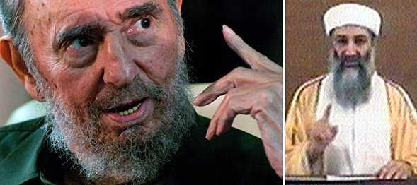Usama bin Ladin är ingen riktig terrorist, utan anställd av CIA, enligt Fidel Castro.