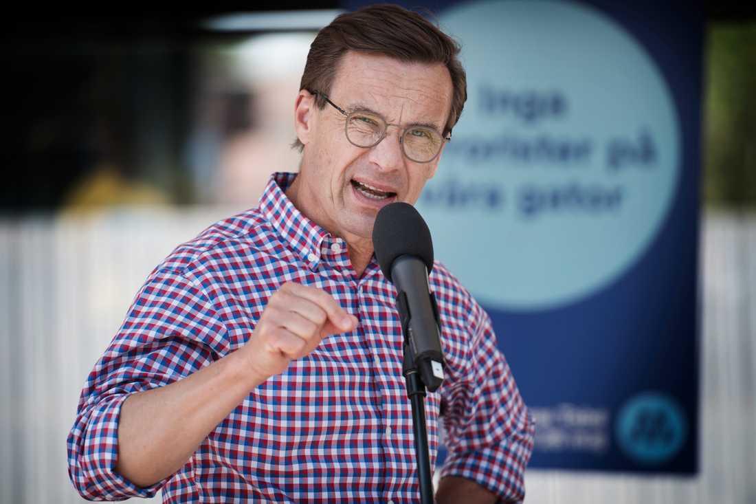 """""""Det svenska valet handlar om vad svenska parlamentariker gör för Sverige i Europa. Allt annat är trams"""", säger Ulf Kristersson."""