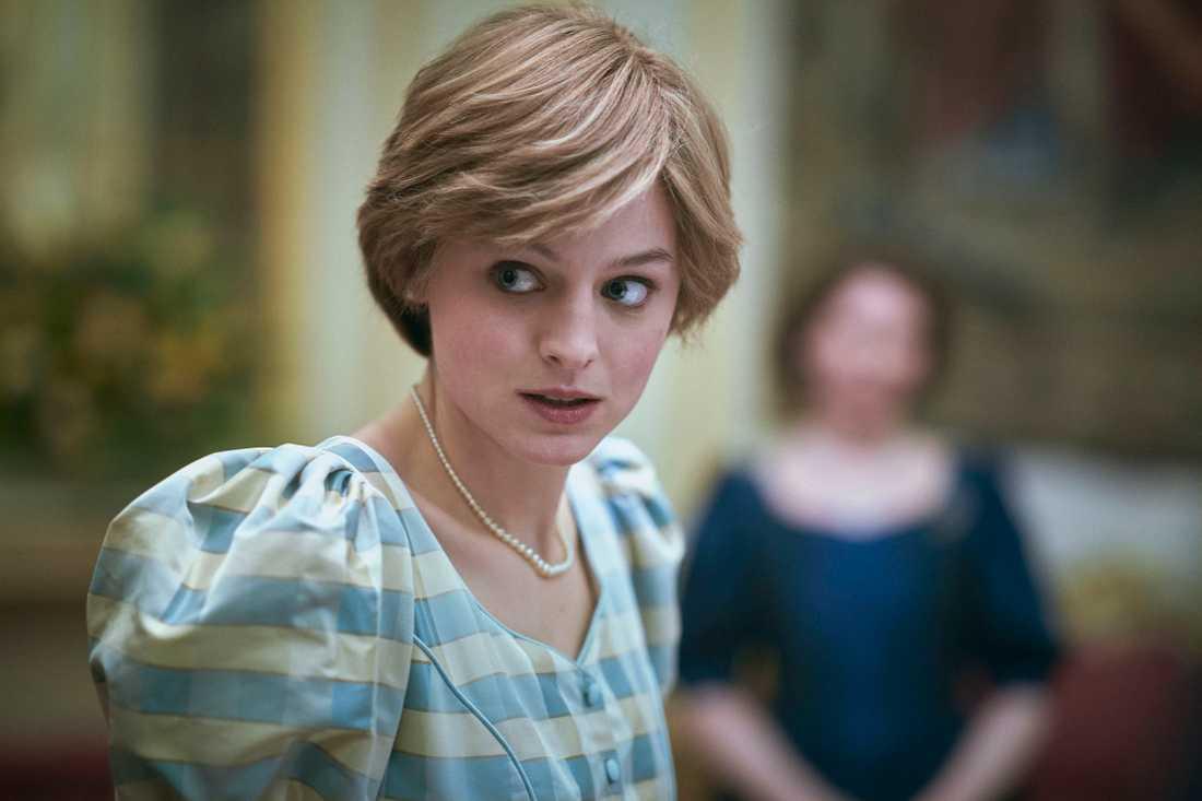 "Emma Corrin som prinsessan Diana i ""The crown""."
