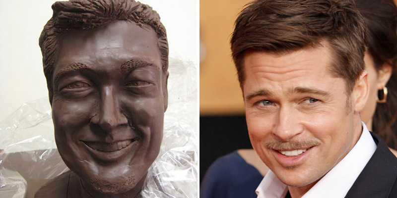 Brad Pitt har fått en egen staty – i choklad.