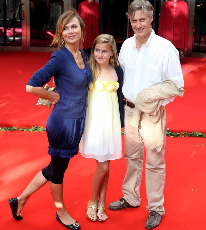Lena, dottern Thora och Lasse.