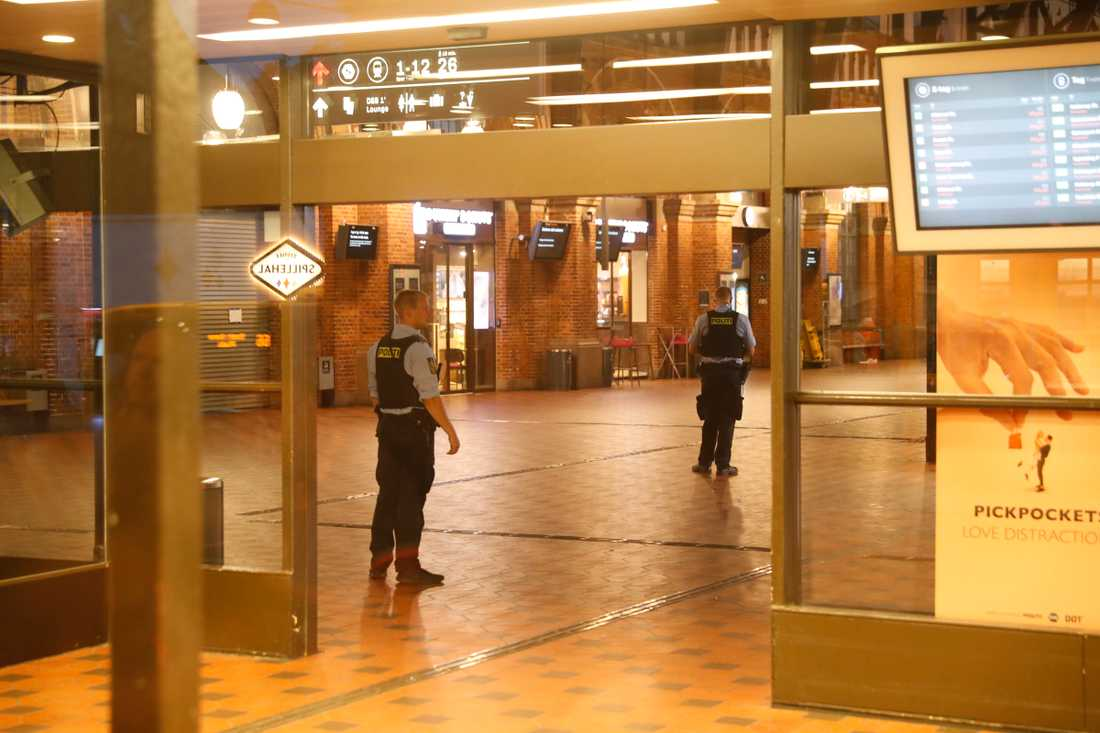 Köpenhamns centralstation spärrades av under onsdagen.