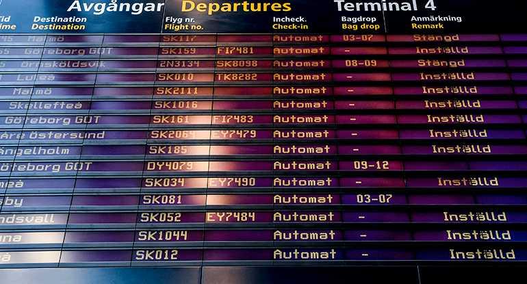 Antalet resenärer som drabbats av inställda och försenade flyg har ökat under 2018.