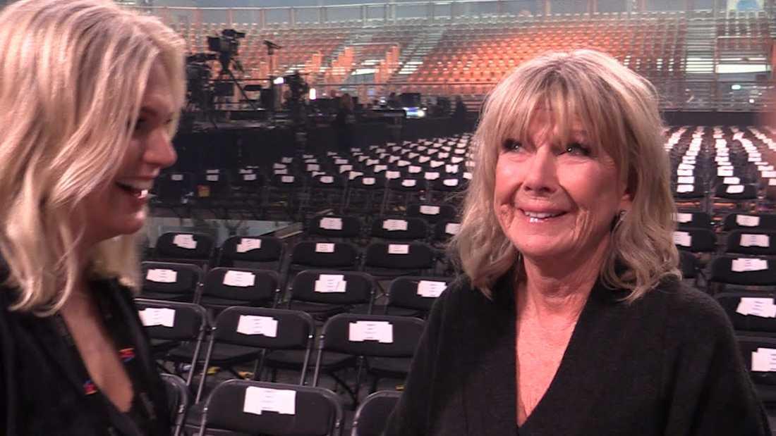 Ann-Louise Hanson kunde inte hålla tårarna borta efter genrepet