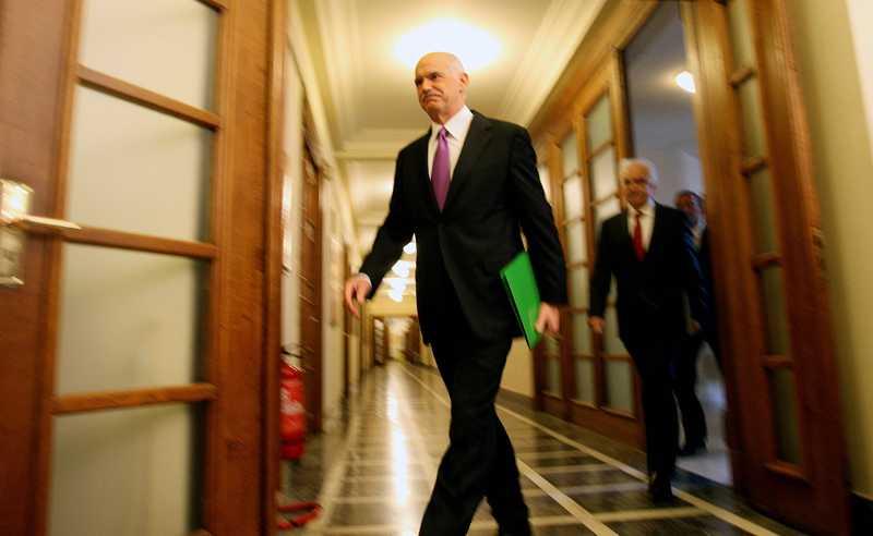 Greklands premiärminister Georgios Papandreou. Foto: AP