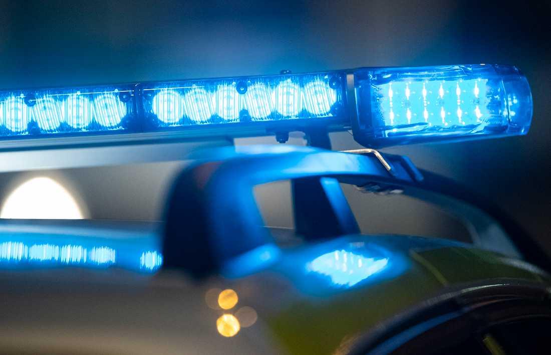 Polisen såg ett bråk - och veta att ett rån inträffat.