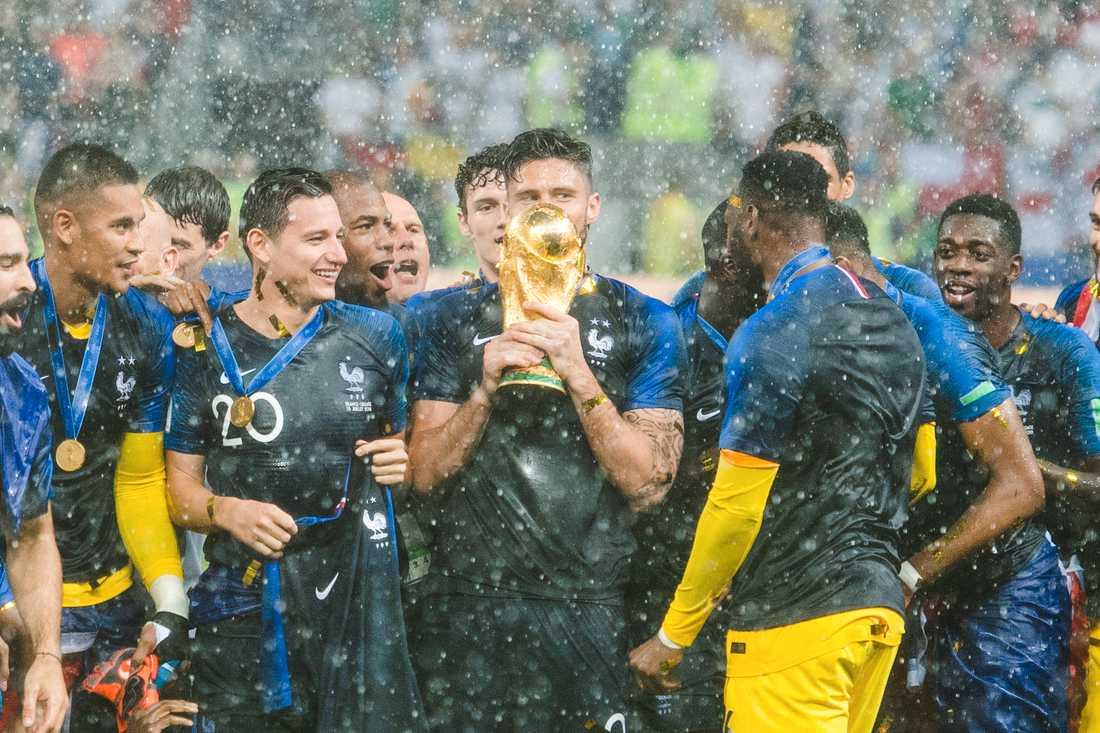 Frankrike blev världsmästare i Ryssland 2018.