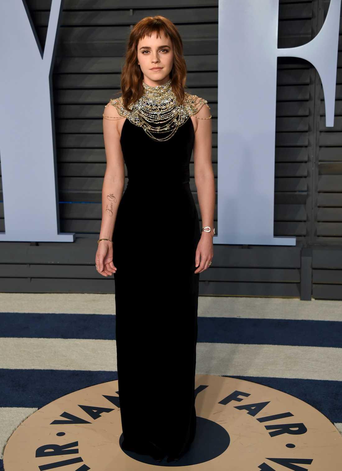 Emma Watson på Oscarsgalan.