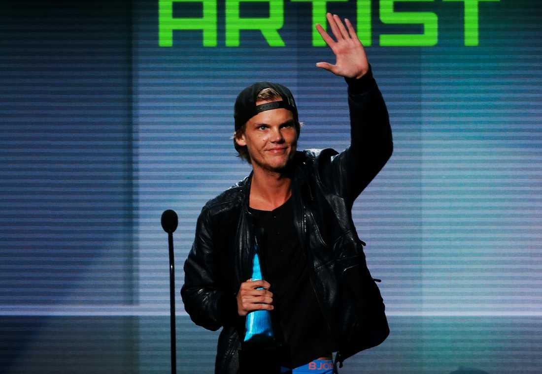 Avicii prisas på American music Awards i Los Angeles 2013.