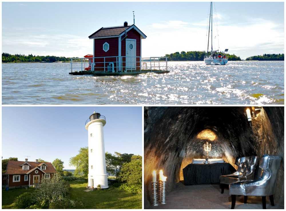 Det finns gott om annorlunda hotellmiljöer i Sverige.